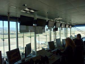 Ground control at Malaga Airport