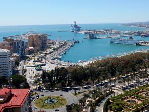 Winner of best views in Andalucia - urban Malaga port