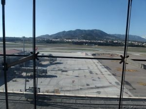 Runway at Malaga Airport