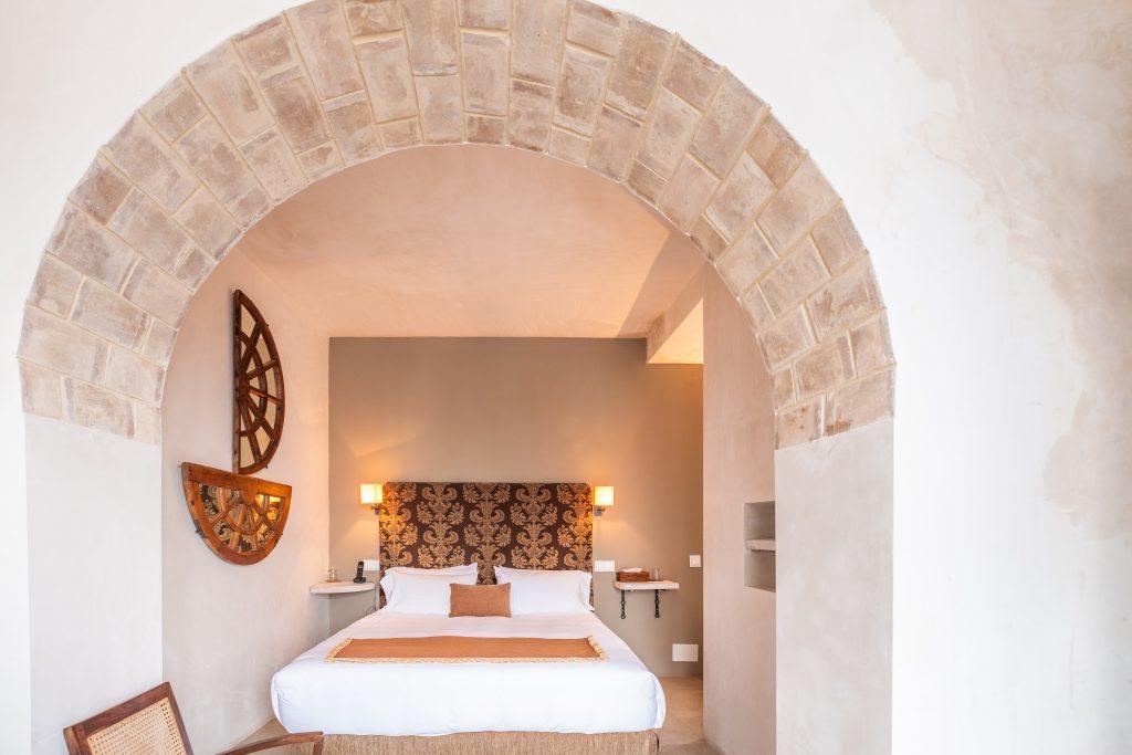 bedroom in boutique hotel in cool Cadiz