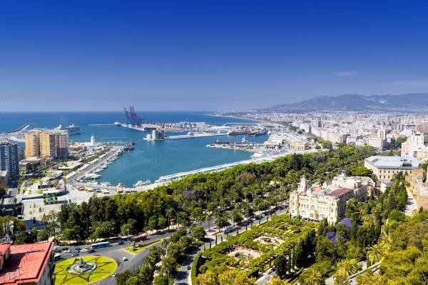 View of Malaga from Gibralfaro